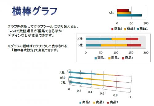 横棒グラフ資料のテンプレート(PowerPoint・パワーポイント)