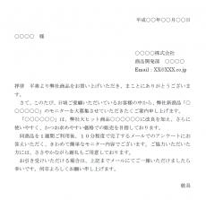 商品モニターの依頼状テンプレート02(Word・ワード)