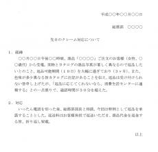 始末書のテンプレート03(Word・ワード)