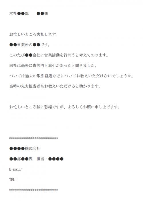 取引会社の照会のメール文例テンプレート